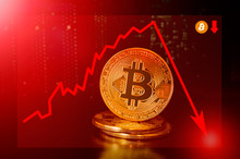 Bitcoin Cryptocurrency Value Price Fall Drop; Bitcoin Price Down