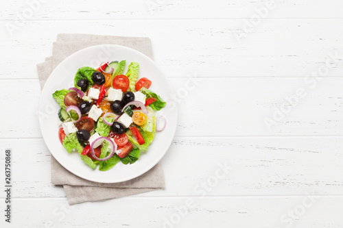 Greek salad plate