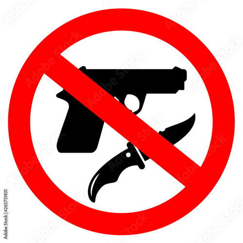 Photo  No weapon vector sign