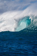 canvas print picture - View inside a giant breaking wave