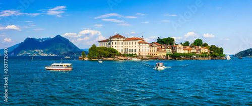 Beautiful lakes of Italy - scenic Lago Maggiore, Borromean island