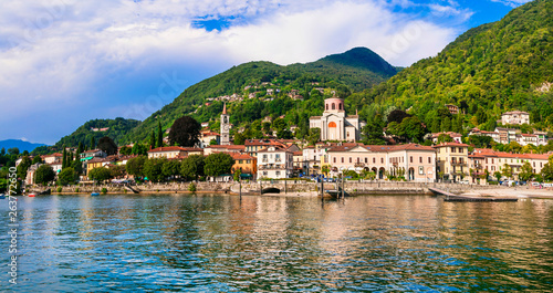 Beautiful lakes of Italy - scenic Lago Maggiore, Laveno-mombello town