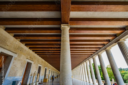 Ancient Agora Stoa of Attalos Market Place Athens Greece Wallpaper Mural