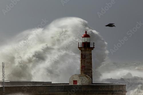 Fototapeta Helen storm at the sea obraz na płótnie