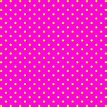 Yellow Dots And Pink Background. Vector