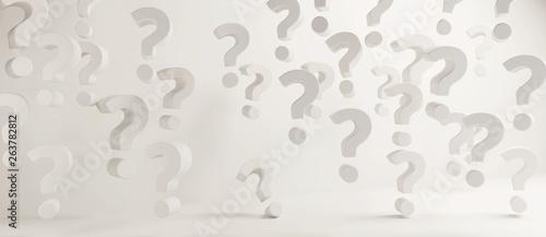Fotografie, Obraz  questions marks 3d-illustration