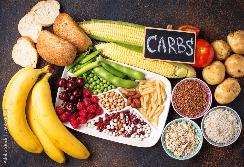 Fototapety, obrazy: Healthy products sources of carbohydrates.