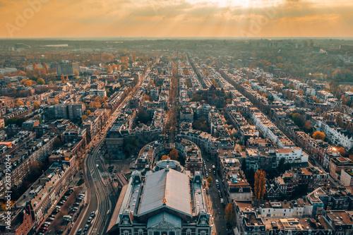 Photo  Aerial view of Amsterdam. Beautiful city panorama.