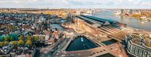 Beautiful Aerial Amsterdam Vie...