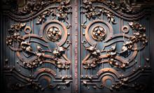 Forged Iron Gates. View Of Won...