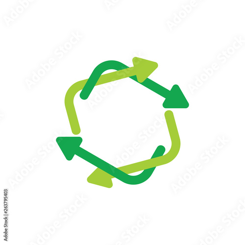 Fototapeta linked circle recycle unusual vector obraz na płótnie