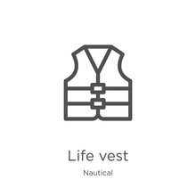 Life Vest Icon Vector From Nau...