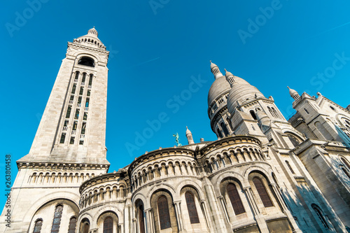 Deurstickers Historisch geb. The Sacre Coeur from the rear in Montmare, France.