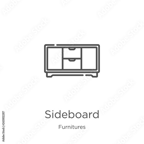 Fotografie, Tablou sideboard icon vector from furnitures collection