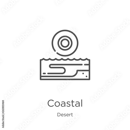 Fotografering coastal icon vector from desert collection