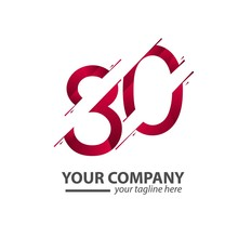 80 Year Anniversary Your Company Vector Template Design Illustration