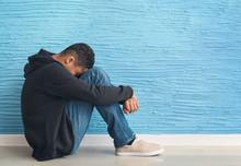 Sad African-American Teenage B...