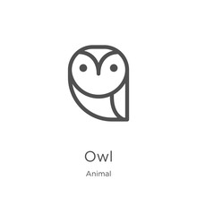 Owl Icon Vector From Animal Co...
