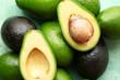 Leinwandbild Motiv Fresh avocado on table