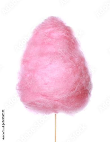 Fotomural  Tasty cotton candy on white background