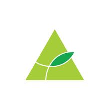 Triangle Leaf Simple Geometric...