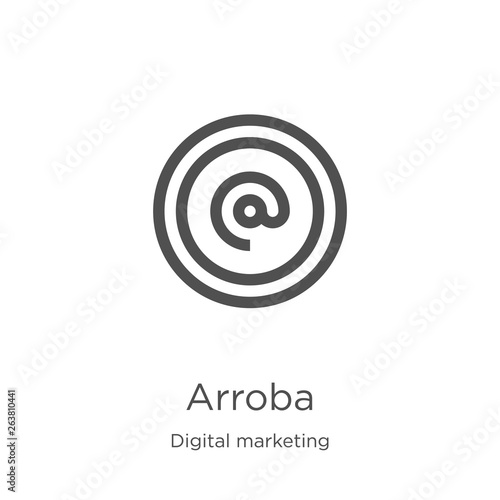 Photo arroba icon vector from digital marketing collection