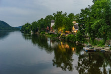 Delaware River At Summer From Historic New Hope, PA
