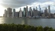Timelapse daylight to sunset ferry terminals New York