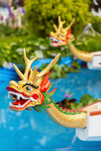 Dragon Head On Dragonboat For Chinese Dragon Boat Festival