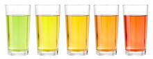 Various Transparent Juices In ...
