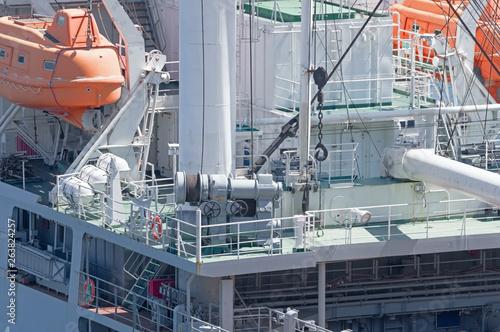 Fotografie, Obraz  Marine mooring equipment on forecastle deck of ship