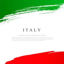 Flag Of Italy. Vector Illustration On White Background.