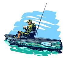 Vector Illustration Of Fishing...