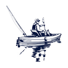 Vector Illustration Of Fishing...