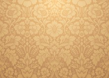 Vector Damask Gold Patterns. Rich Ornament, Old Damascus Style Gold Pattern