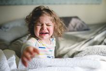 Little Girl Upset About Waking...
