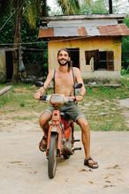 Tourist  By Bike In Cambodia