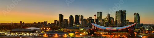 Fotografie, Obraz  Panorama view Downtown Calgary skyline,Alberta,Canada