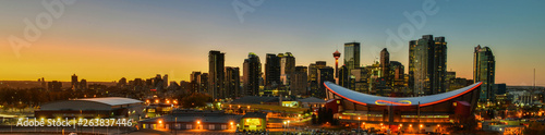 Photo  Panorama view Downtown Calgary skyline,Alberta,Canada