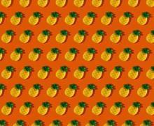 Gummy Pineapple On Orange Pattern