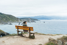 A Girl Sights The Ocean From A...