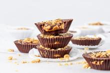 Creamy Crunchy Peanut Butter And Carob Chocolate Alternative Cup