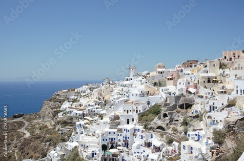 Fototapety, obrazy: Oia panoramic view – build on the hill side – Santorini