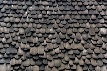 Wood Tiles Of Old Roof