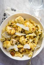 Roasted Cauliflower And Caper Pasta