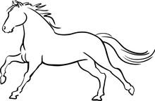 Horse Logo. Wild Animals. Vector Illustration. Icon