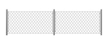 Wire Fence Isolated On White B...