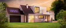 Belle Maison D'architecte La Nuit