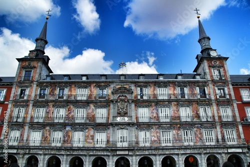 Foto  Beautiful main square in Madrid called Plaza Mayor
