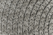 Woven Black And Grey Wicker Straw Background Or Texture